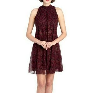 SIGNATURE BY ROBBIE BEE  Paisley Mock Neck Dress
